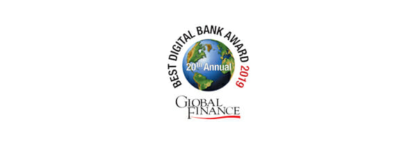 Global Finance World's Best Digital Bank Awards 2019のロゴ画像です