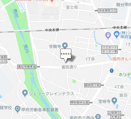 ARUHI(アルヒ)甲府西店の地図です