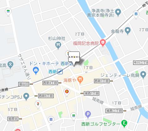 ARUHI(アルヒ)の福岡西支店の地図です