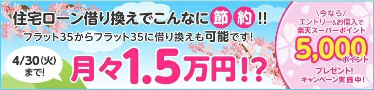 楽天銀行の住宅ローン借り換えキャンペーン(2019年4月)