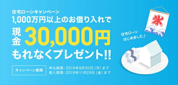 ジャパンネット銀行のキャンペーンバナーです