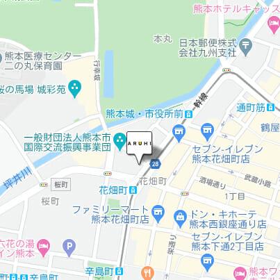 ARUHI(アルヒ) 熊本店の地図です