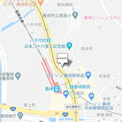ARUHI(アルヒ) 長崎店のマップです