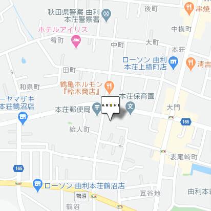 ARUHI(アルヒ)の由利本荘店の地図です